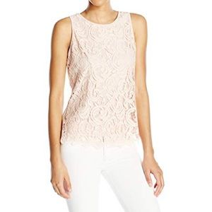 Adrianna Papell Ivory Lace Shell Size XXL